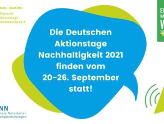 Deutsche Aktionstage Nachhaltigkeit: Platz für Ihre Ideen