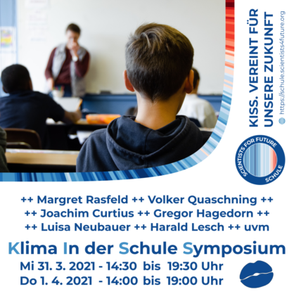"Scientists4Future: Online-Syposium ""Klima in der Schule"""