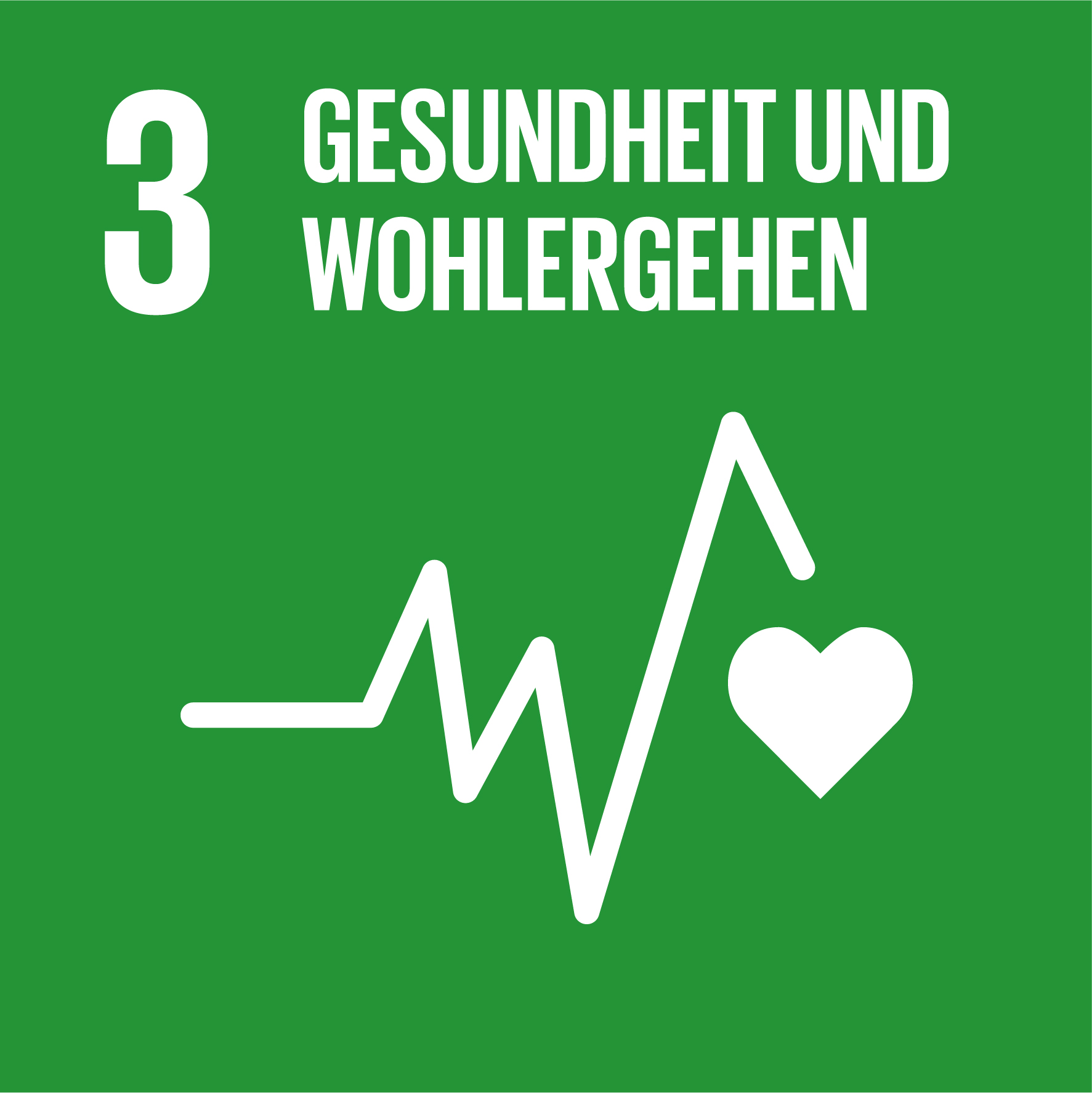 Icon Ziel 3: Gesundheit und Wohlergehen