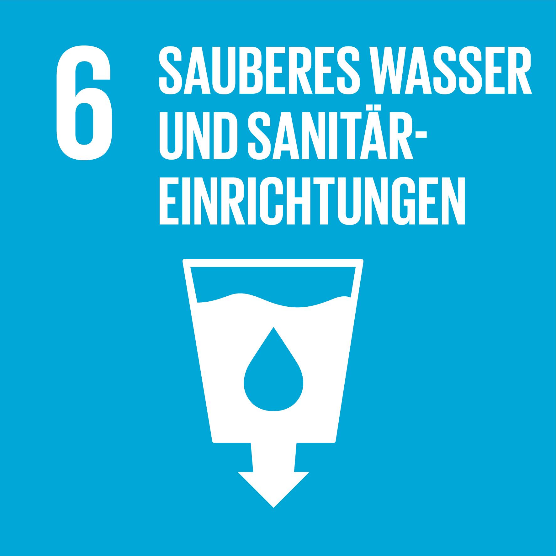 Icon Ziel 6: sauberes wasser