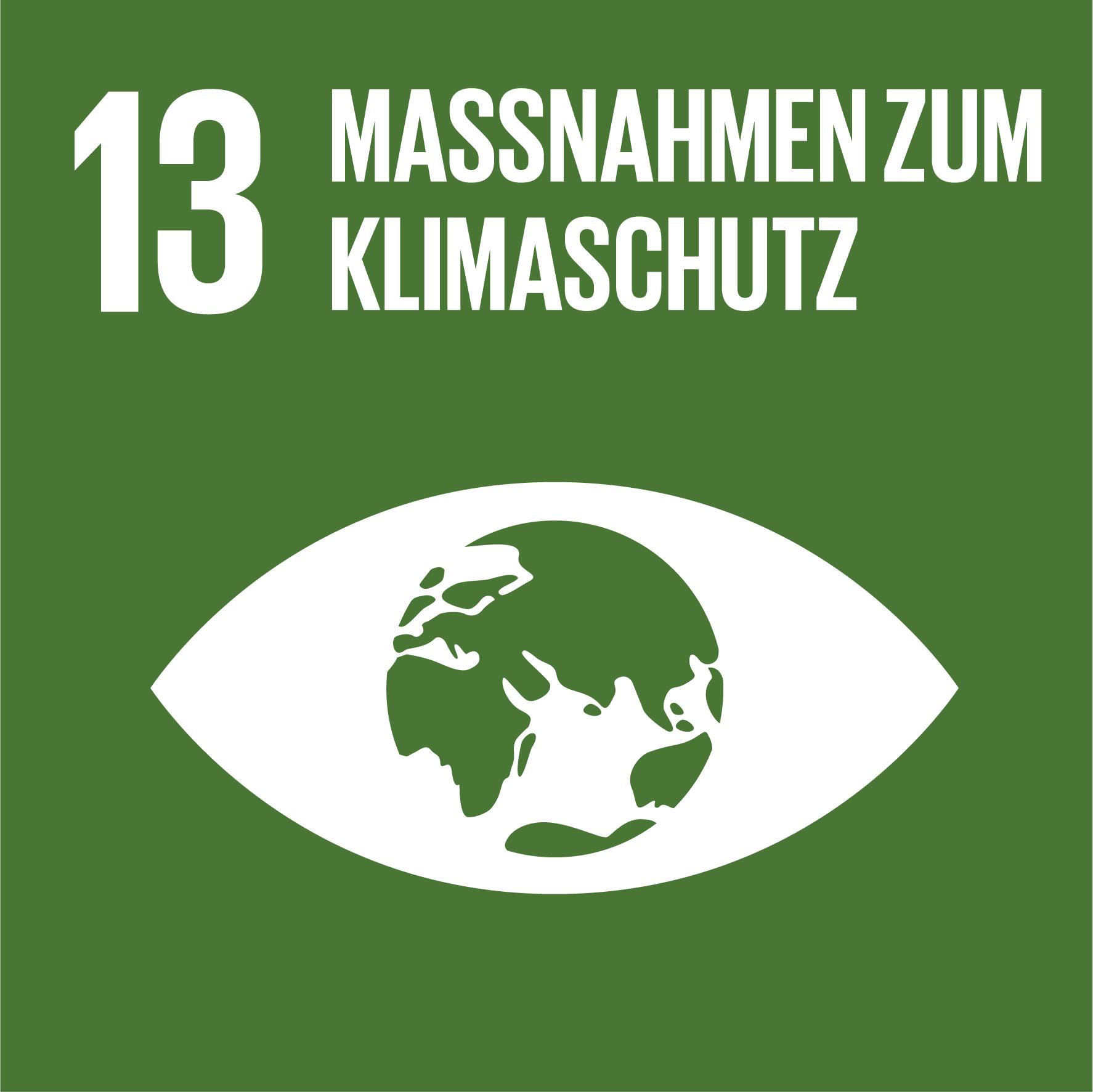 Icon Ziel 13: Massnahmen zum Klimaschutz