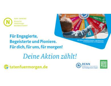 Deutsche Aktionstage Nachhaltigkeit - jetzt bewerben
